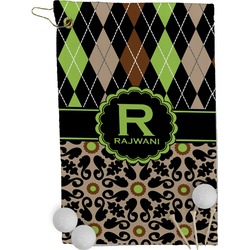 Argyle & Moroccan Mosaic Golf Towel - Full Print (Personalized)