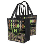 Argyle & Moroccan Mosaic Grocery Bag (Personalized)