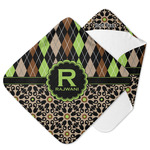 Argyle & Moroccan Mosaic Hooded Baby Towel (Personalized)