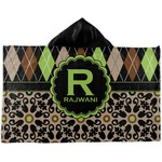Argyle & Moroccan Mosaic Kids Hooded Towel (Personalized)