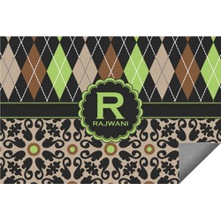 Argyle & Moroccan Mosaic Indoor / Outdoor Rug - 8'x10' (Personalized)