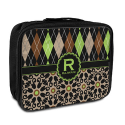 Argyle & Moroccan Mosaic Insulated Lunch Bag (Personalized)