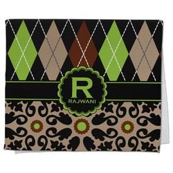 Argyle & Moroccan Mosaic Kitchen Towel - Full Print (Personalized)