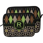 Argyle & Moroccan Mosaic Laptop Sleeve / Case (Personalized)