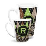 Argyle & Moroccan Mosaic Latte Mug (Personalized)