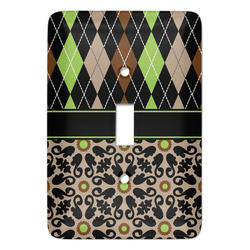 Argyle & Moroccan Mosaic Light Switch Covers - Multiple Toggle Options Available (Personalized)
