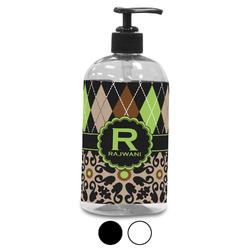 Argyle & Moroccan Mosaic Plastic Soap / Lotion Dispenser (Personalized)