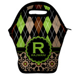 Argyle & Moroccan Mosaic Lunch Bag w/ Name and Initial