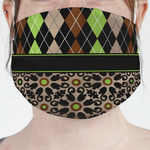 Argyle & Moroccan Mosaic Face Mask Cover (Personalized)