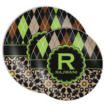 Argyle & Moroccan Mosaic Melamine Plate (Personalized)