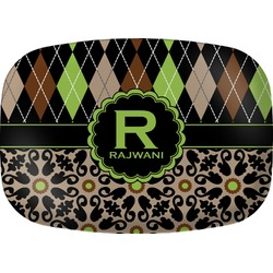 Argyle & Moroccan Mosaic Melamine Platter (Personalized)