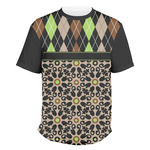 Argyle & Moroccan Mosaic Men's Crew T-Shirt (Personalized)