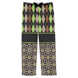 Argyle & Moroccan Mosaic Mens Pajama Pants (Personalized)