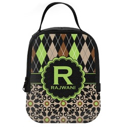 Argyle & Moroccan Mosaic Neoprene Lunch Tote (Personalized)