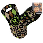 Argyle & Moroccan Mosaic Neoprene Oven Mitt (Personalized)