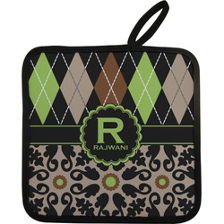 Argyle & Moroccan Mosaic Pot Holder (Personalized)