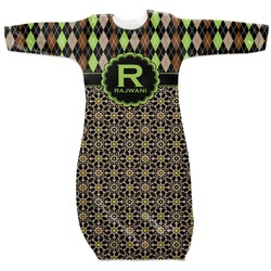 Argyle & Moroccan Mosaic Newborn Gown - 3-6 (Personalized)
