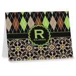 Argyle & Moroccan Mosaic Note cards (Personalized)