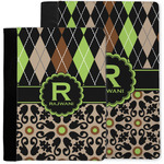 Argyle & Moroccan Mosaic Notebook Padfolio w/ Name and Initial