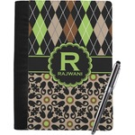 Argyle & Moroccan Mosaic Notebook Padfolio (Personalized)