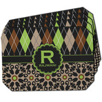 Argyle & Moroccan Mosaic Dining Table Mat - Octagon w/ Name and Initial