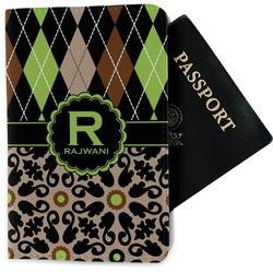 Argyle & Moroccan Mosaic Passport Holder - Fabric (Personalized)