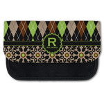 Argyle & Moroccan Mosaic Canvas Pencil Case w/ Name and Initial