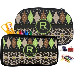 Argyle & Moroccan Mosaic Pencil / School Supplies Bag (Personalized)