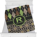 Argyle & Moroccan Mosaic Minky Blanket (Personalized)
