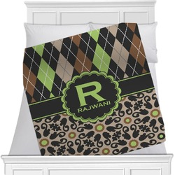 Argyle & Moroccan Mosaic Blanket (Personalized)