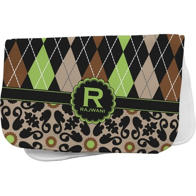 Argyle & Moroccan Mosaic Burp Cloth (Personalized)