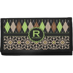 Argyle & Moroccan Mosaic Canvas Checkbook Cover (Personalized)