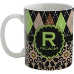 Argyle & Moroccan Mosaic Coffee Mug (Personalized)
