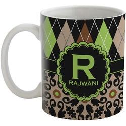 Argyle & Moroccan Mosaic Coffee Mug (Personalized)