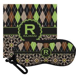 Argyle & Moroccan Mosaic Eyeglass Case & Cloth (Personalized)