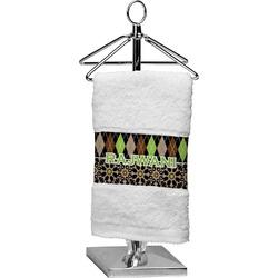 Argyle & Moroccan Mosaic Cotton Finger Tip Towel (Personalized)