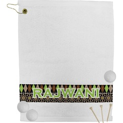 Argyle & Moroccan Mosaic Golf Towel (Personalized)