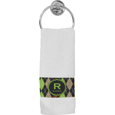 Argyle & Moroccan Mosaic Hand Towel (Personalized)