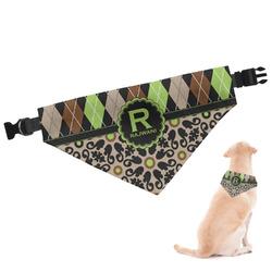 Argyle & Moroccan Mosaic Dog Bandana (Personalized)