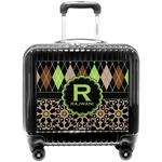 Argyle & Moroccan Mosaic Pilot / Flight Suitcase (Personalized)