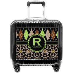 Argyle & Moroccan Mosaic Pilot / Flight Suitcase (Personalized)