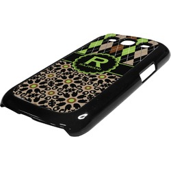 Argyle & Moroccan Mosaic Plastic Samsung Galaxy 3 Phone Case (Personalized)