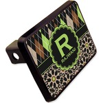 """Argyle & Moroccan Mosaic Rectangular Trailer Hitch Cover - 2"""" (Personalized)"""