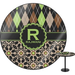 Argyle & Moroccan Mosaic Round Table (Personalized)