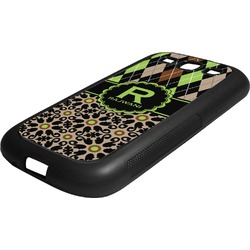 Argyle & Moroccan Mosaic Rubber Samsung Galaxy 3 Phone Case (Personalized)