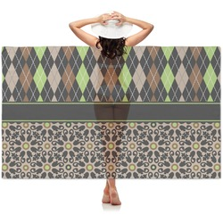 Argyle & Moroccan Mosaic Sheer Sarong (Personalized)