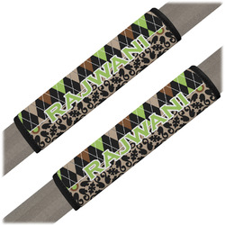 Argyle & Moroccan Mosaic Seat Belt Covers (Set of 2) (Personalized)