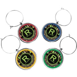 Argyle & Moroccan Mosaic Wine Charms (Set of 4) (Personalized)