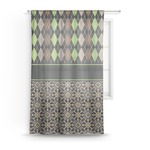 Argyle & Moroccan Mosaic Sheer Curtains (Personalized)