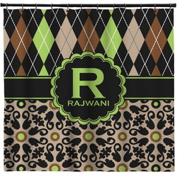Argyle & Moroccan Mosaic Shower Curtain (Personalized)